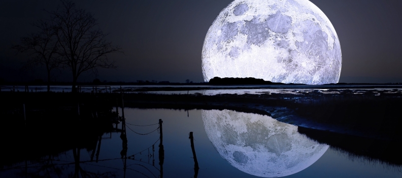 Luna piena nella Vergine
